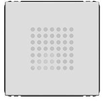 Звонок Динг-Донг 2 мод ABB NIE Zenit Антрацит