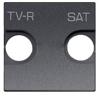 Накл. для TV-R/SAT роз., 2 мод ABB NIE Zenit Антрацит