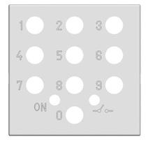 Накл. выкл. с код. панелью, 2 мод ABB NIE Zenit Антрацит