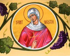 Мелитина Маркианопольская  (рукописная икона)