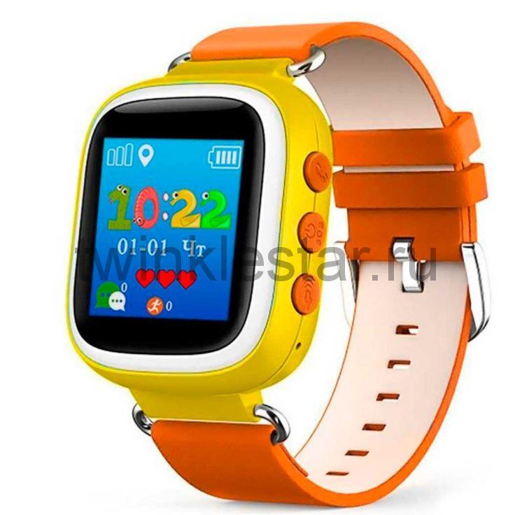 Умные детские часы с GPS Smart Baby Watch Q60S желто-оранжевые