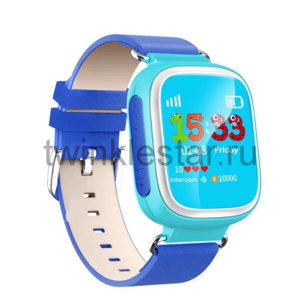 Умные детские часы с GPS Smart Baby Watch Q60S голубой-синий