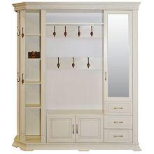 Шкаф комбинированный ВЕРДИ ЛЮКС 2.1 для прихожей П433.02,  02-01 эмаль