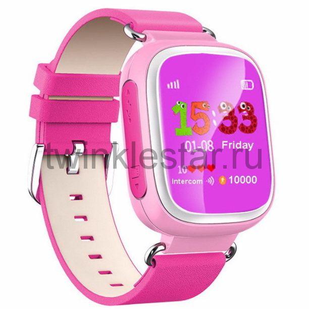 Умные детские часы с GPS Smart Baby Watch Q60S розово-сиреневый