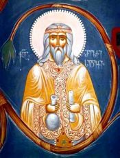 Мелхиседек Салимский (рукописная икона)