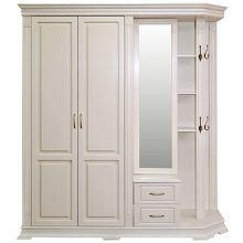 Шкаф комбинированный ВЕРДИ ЛЮКС 1.1 для прихожей П433.01,  01-01 эмаль