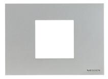 Рамка итал. станд. на 2 мод. ABB NIE Zenit Серебро