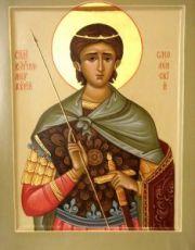 Меркурий Смоленский (рукописная икона)