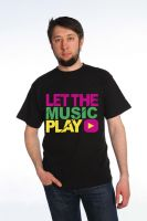 """Футболка мужская  """"Let the music play"""""""