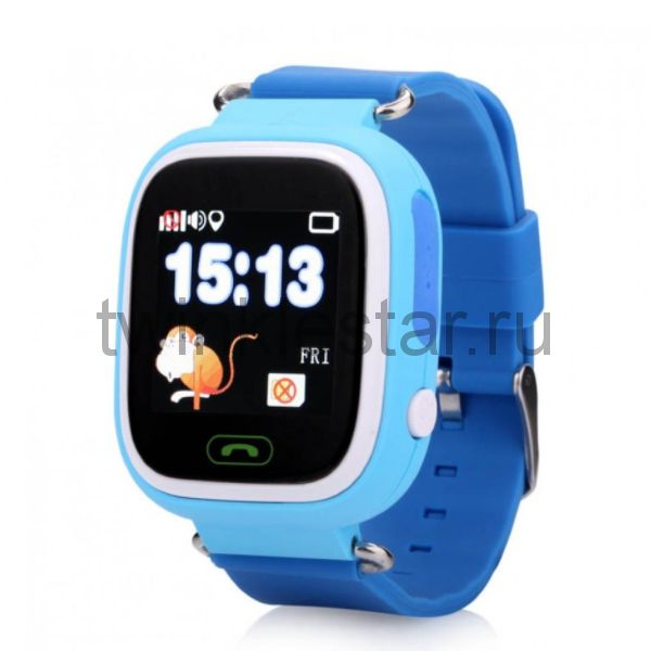 Умные детские часы с GPS Smart Baby Watch Q80 голубой