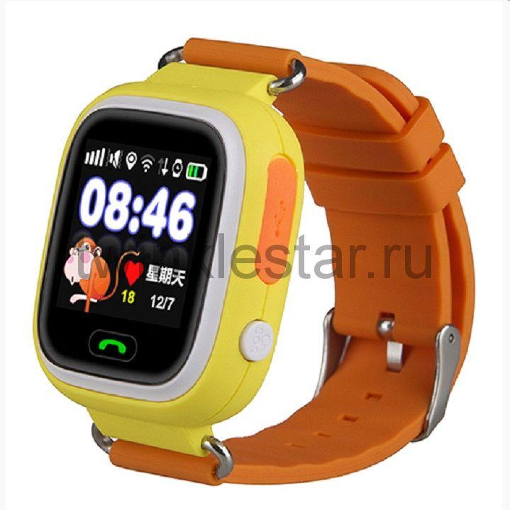 Умные детские часы с GPS Smart Baby Watch Q80 оранжевый