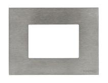 Рамка итал. станд. на 3 мод. ABB NIE Zenit Сталь