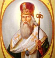 Мефодий Константинопольский (рукописная икона)