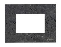 Рамка итал. станд. на 3 мод. ABB NIE Zenit Сланец