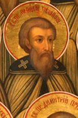 Мефодий Пешношский (рукописная икона)