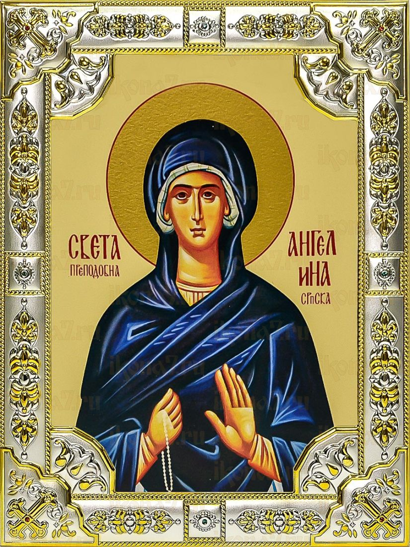 Ангелина Сербская (18х24), серебро