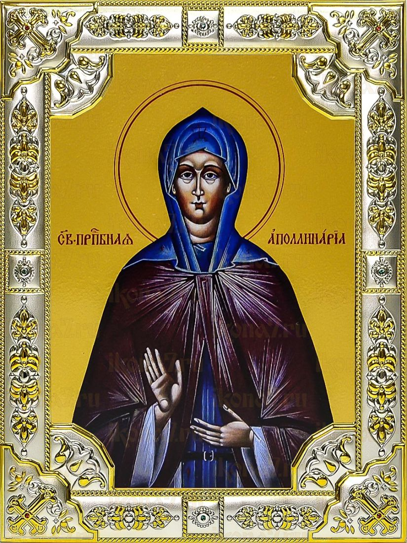 Аполлинария Египетская (18х24), серебро