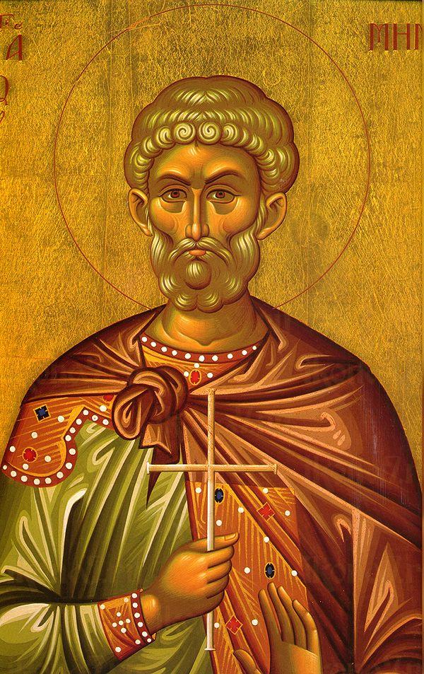 Мина Котуанский (рукописная икона)