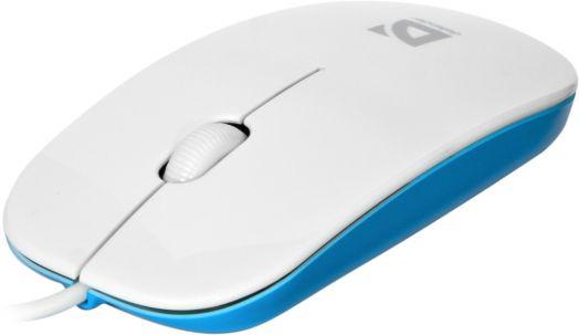 Мышь проводная Defender NetSprinter MM-440 белый+голубой