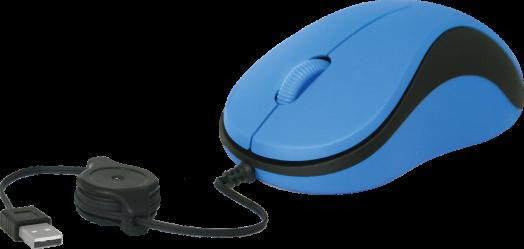 Мышь проводная Defender MS-960 синий