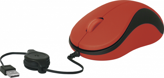 Мышь проводная Defender MS-960 красный