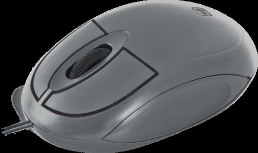Мышь проводная Defender #1 MS-900 серый