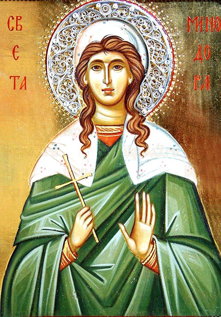 Минодора Вифинская (рукописная икона)
