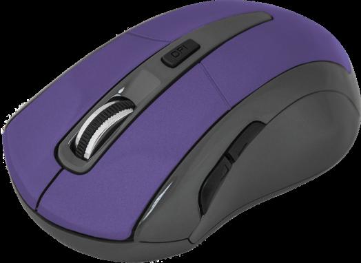 Мышь беспроводная Defender Accura MM-965 фиолетовый