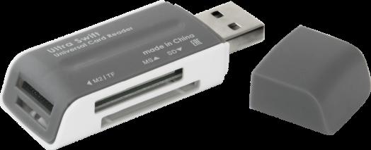 Картридер универсальный Ultra Swift USB 2.0, 4 слота Defender #1