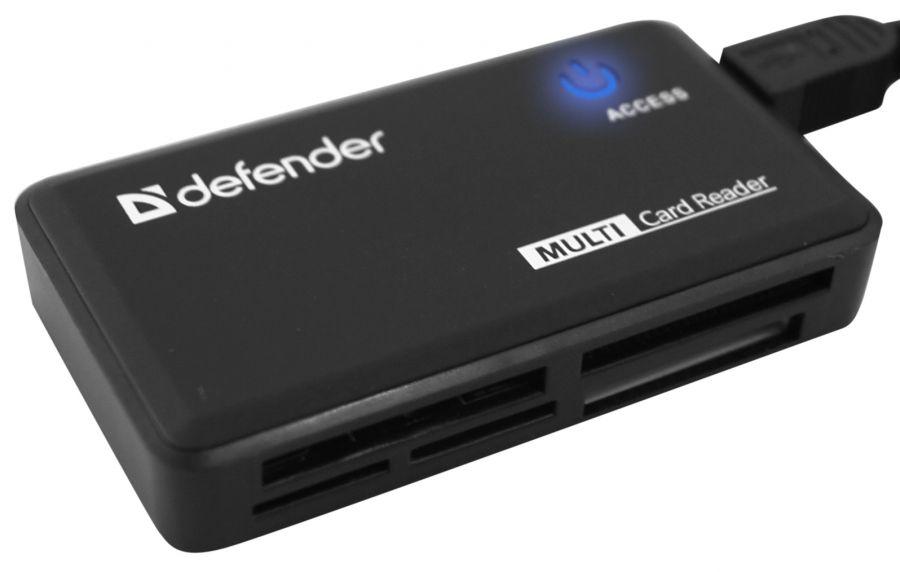 Картридер универсальный  Optimus USB 2.0, 5 слотов DEFENDER