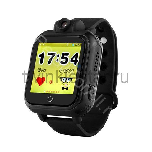 Умные детские часы с GPS Smart Baby Watch GW1000 (G75) черные