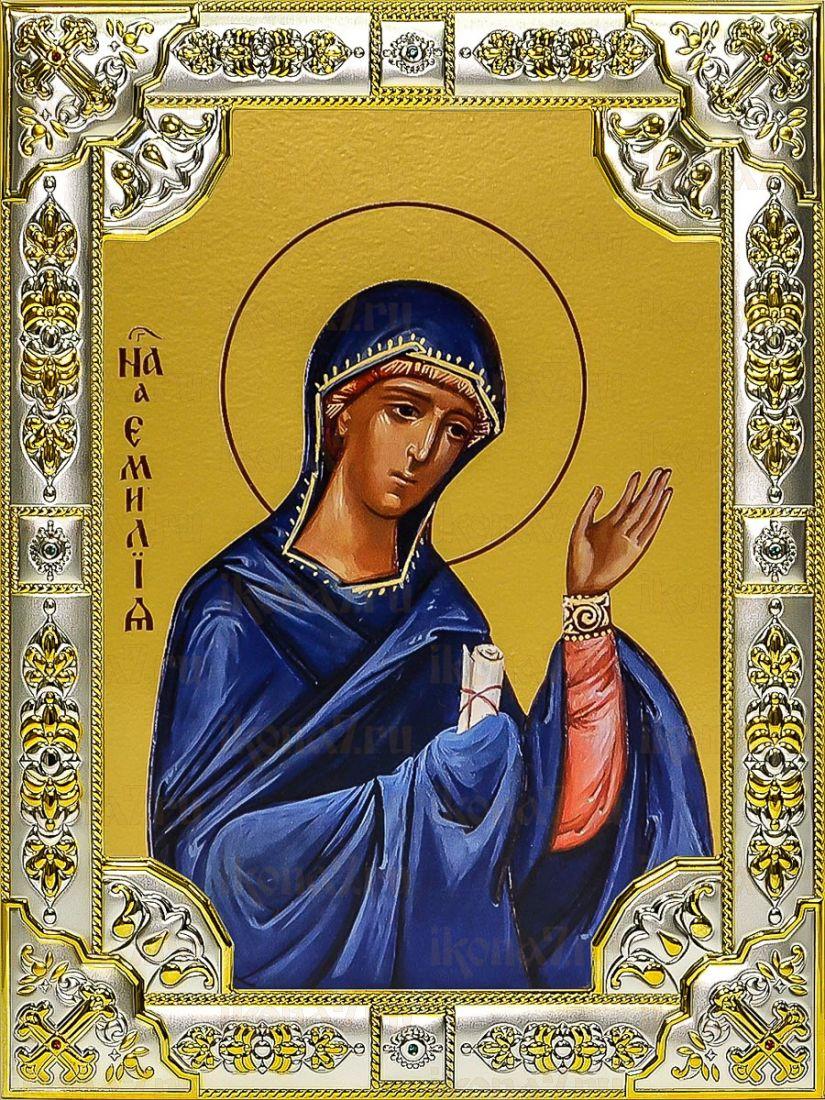 Емилия Кесарийская (18х24), серебро