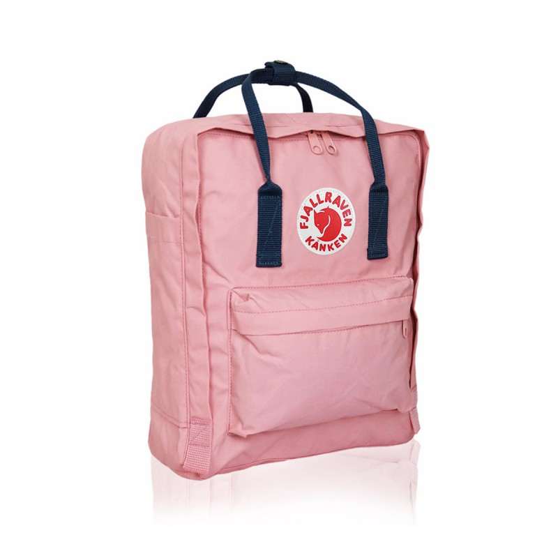 Рюкзак Fjallraven Kanken classic Pink-Royal Blue (w) (Розовый с синими ручками) 312-540