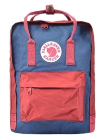 Рюкзак Fjallraven Kanken classic Peach Pink-Royal blue (w) (Розовый с синей вставкой) 319-540