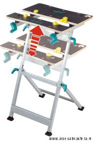 Универсальный складной верстак (зажимной и рабочий стол) Wolfcraft  MASTER 600 с регулировкой высоты от 780 до 950 мм