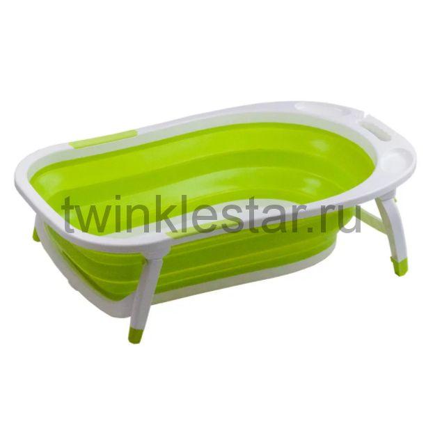 Детская складная ванна Folding Baby Bathtub зеленый