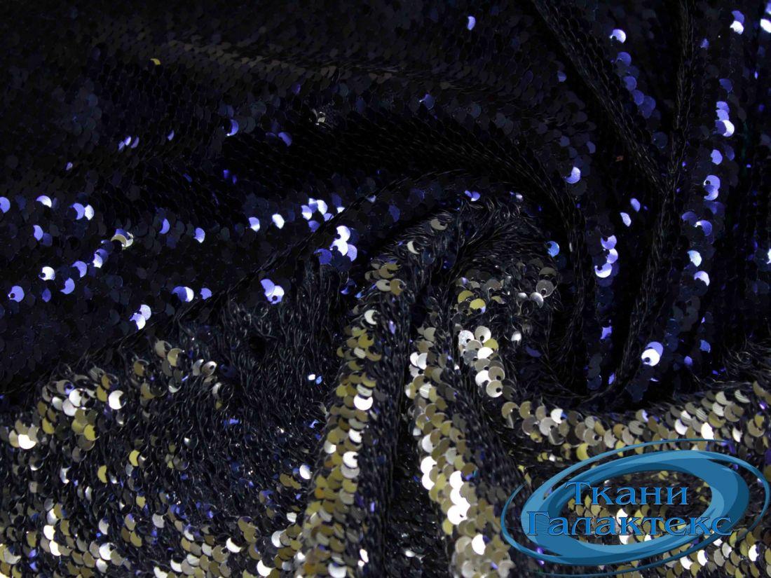 Сетка вышивка пайетки VT-9634/C#2