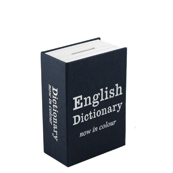Книга сейф Английский словарь мини, черный