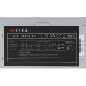 Блок питания  ACCORD 400 Вт ACC-400W-12