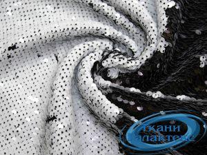 Сетка вышивка пайетки VT-9634/C#5