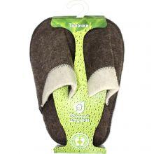 Тапочки мужские Комби , войлок 100% 03487, размер универсальный
