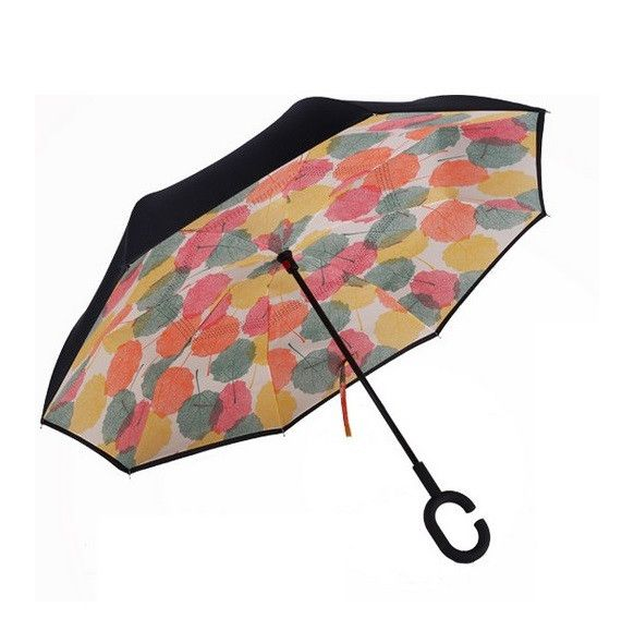 Зонт наоборот UPBRELLA, Цветные листья