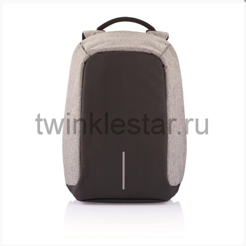 Рюкзак-антивор светло-серый