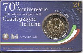 70 лет конституции Италии 2 евро Италия 2018   BU