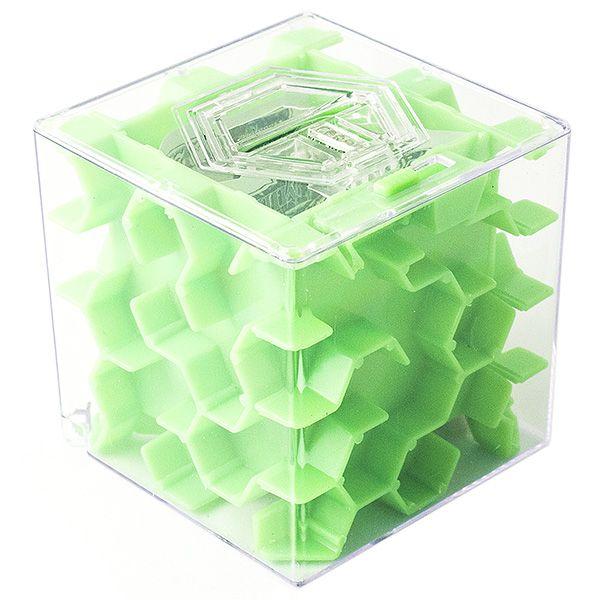 Копилка - головоломка Лабиринт New 65 мм зеленая