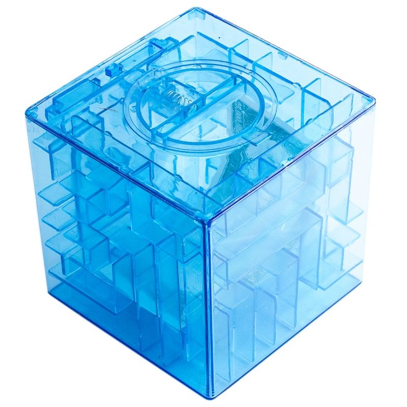Копилка - головоломка Лабиринт синяя