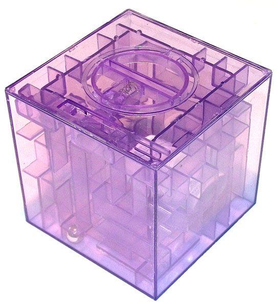 Копилка - головоломка Лабиринт фиолетовая