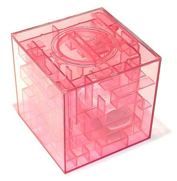 Копилка - головоломка Лабиринт розовая