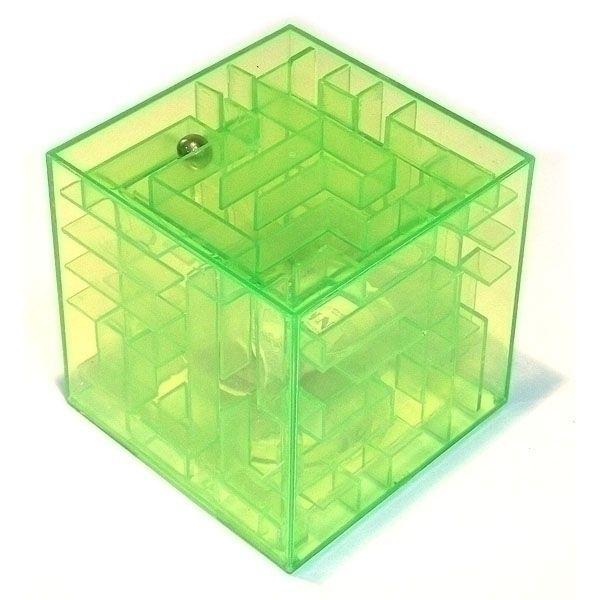 Копилка - головоломка Лабиринт зеленая