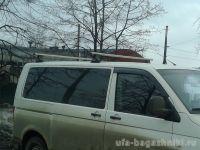 Багажник на крышу Volkswagen Transporter T5 (2003-16), штат.места, Атлант, аэродинамические дуги